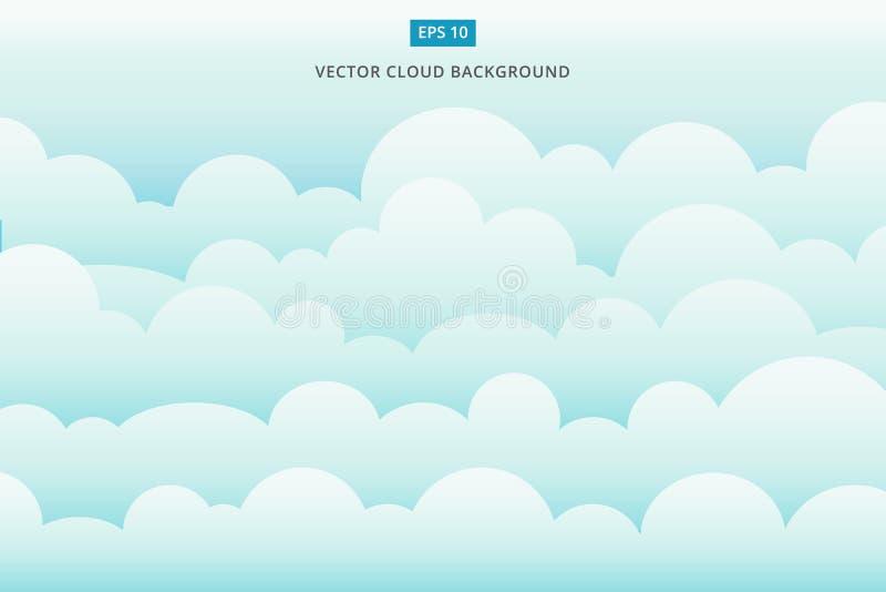 Fondo di vettore dello scape della nuvola illustrazione di stock