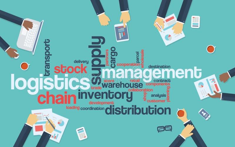 Fondo di vettore di affari della gestione della logistica illustrazione vettoriale