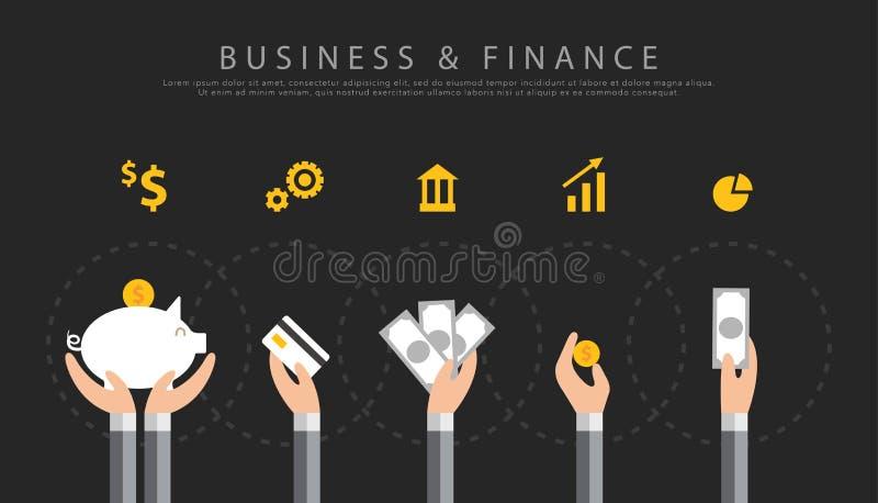 Fondo di vettore di finanza e di affari illustrazione vettoriale