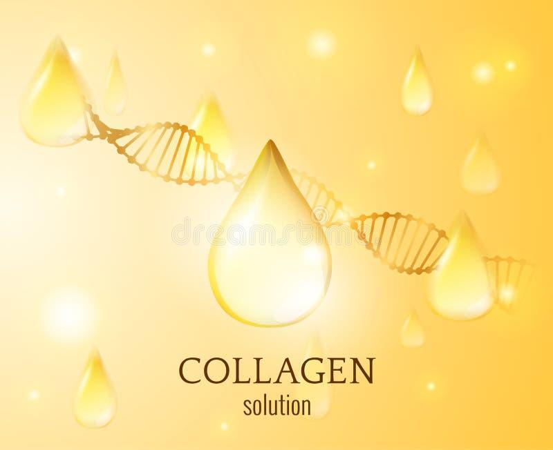 Fondo di vettore di goccia del collagene EPS10 illustrazione vettoriale