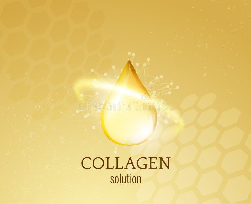 Fondo di vettore di goccia del collagene EPS10 illustrazione di stock