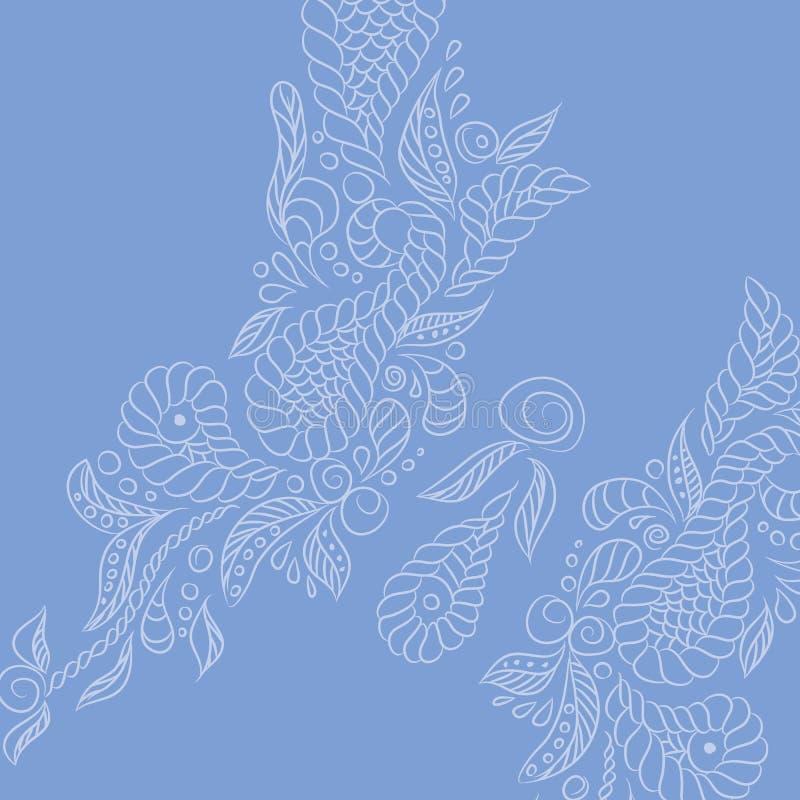 Fondo di vettore Farfalla della lavanda illustrazione di stock