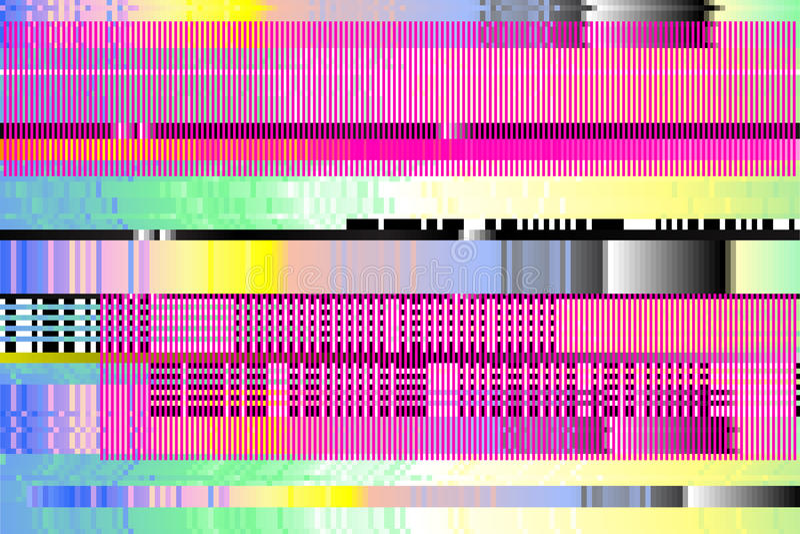 Fondo di vettore Impulso errato di Digital pixel, tagliati immagini stock libere da diritti