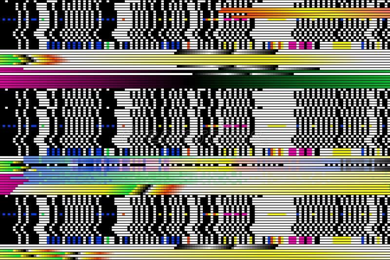 Fondo di vettore Impulso errato di Digital pixel, tagliati immagine stock