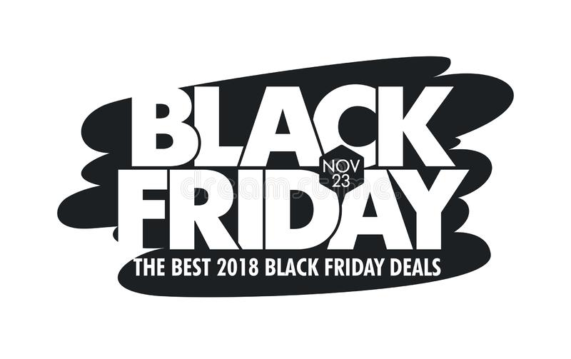 Fondo di vettore di vendita di Black Friday - IllustrationBanner - segno, insegna di web, il 23 novembre - data di calendario, ve illustrazione di stock