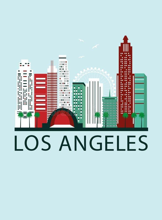 Fondo di viaggio di Los Andgeles illustrazione vettoriale