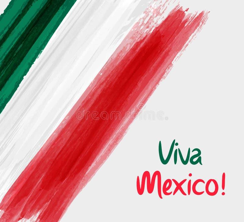 Fondo di Viva Mexico illustrazione di stock