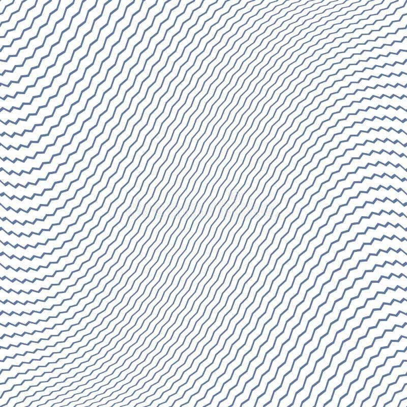 Fondo diagonal abstracto Líneas textura del zigzag stock de ilustración