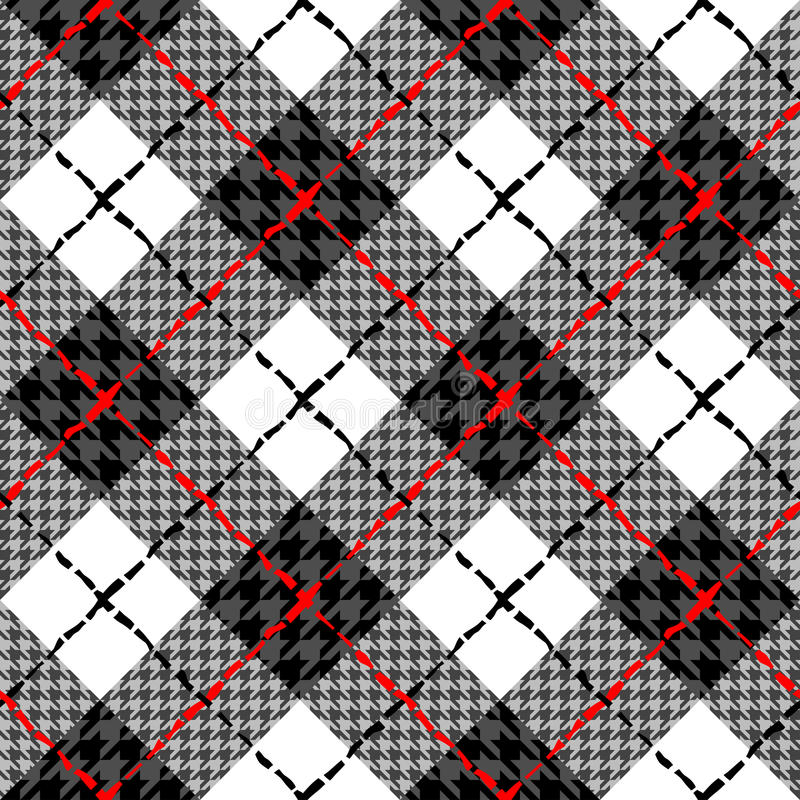 Fondo diagonal de la tela escocesa libre illustration