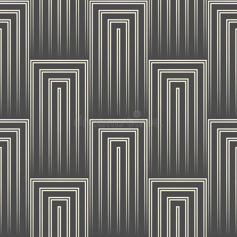 Fondo diagonale astratto della banda modello quadrato senza cuciture 3d royalty illustrazione gratis