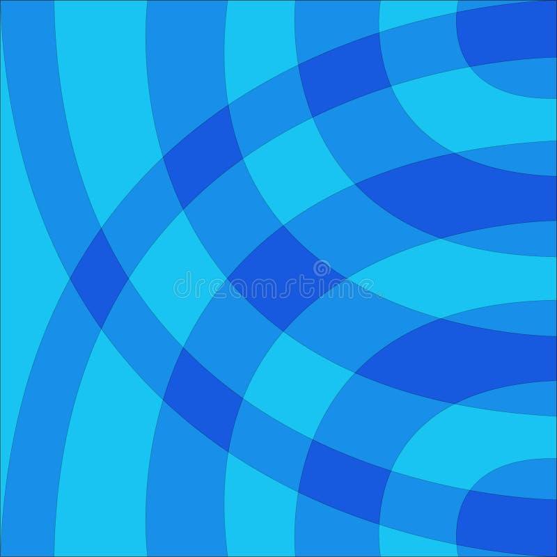 Fondo dibujado azul azul del arco imagen de archivo