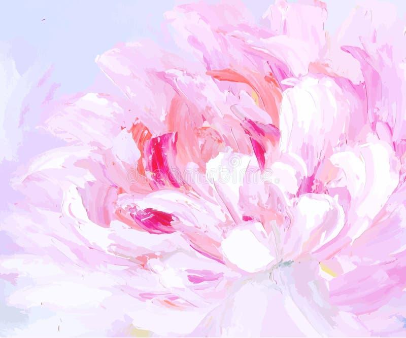 Fondo dibujado mano abstracta original de la pintura al óleo libre illustration