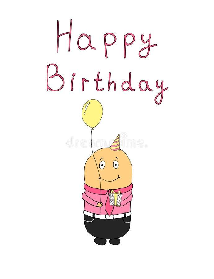 Fondo dibujado mano linda del cumpleaños imagen de archivo libre de regalías