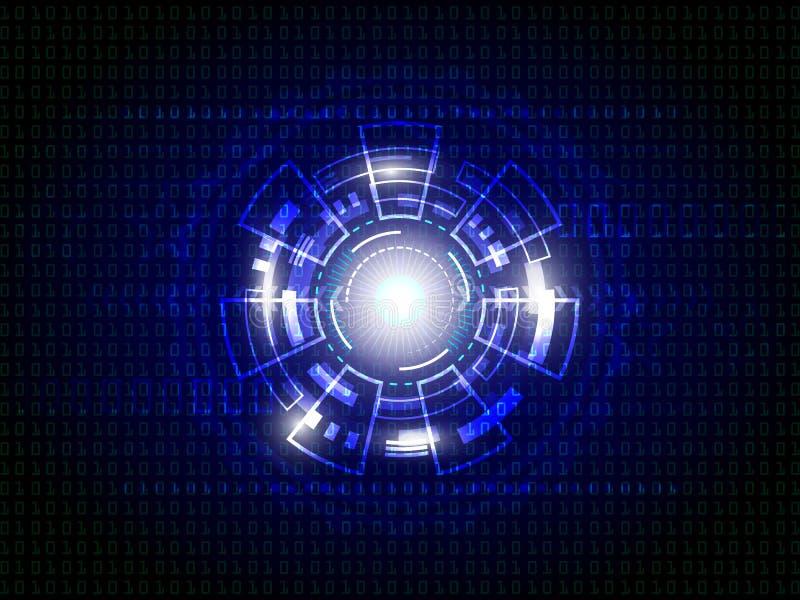 Fondo digital de la tecnología abstracta azul imagenes de archivo