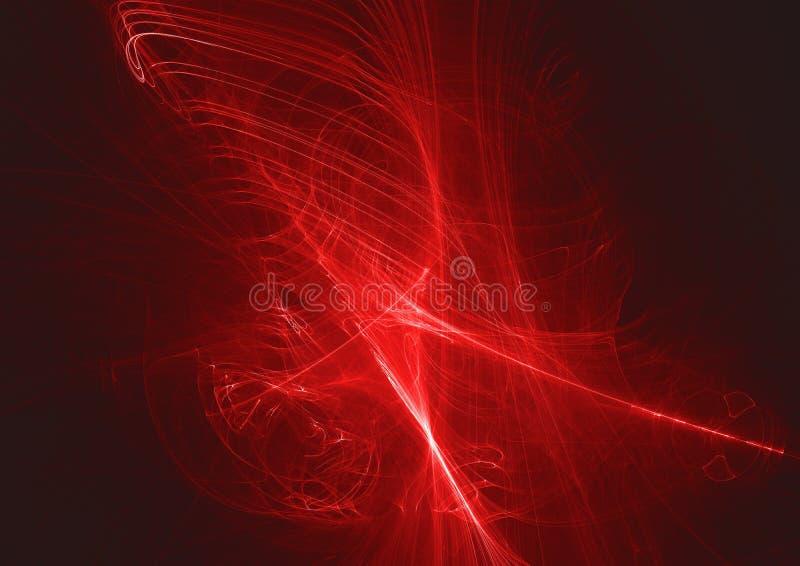Fondo digital del diseño de la luz del fractal del extracto que brilla intensamente libre illustration