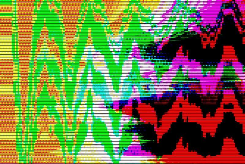 Fondo digital del extracto de la interferencia del ordenador, pantalla ilustración del vector