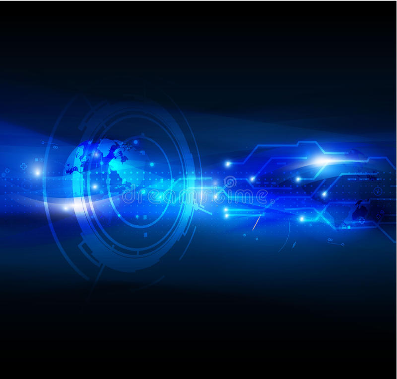 Fondo digital futurista abstracto de la tecnología, illus del vector ilustración del vector