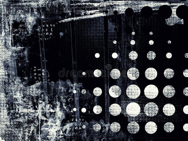 Fondo digitale astratto strutturato di lerciume illustrazione vettoriale