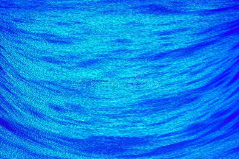 Fondo digitale di arte della pittura ad olio di struttura blu astratta del mare illustrazione vettoriale