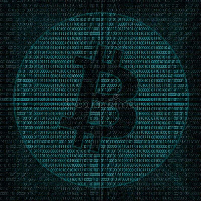 Fondo digitale di Bitcoin fotografie stock