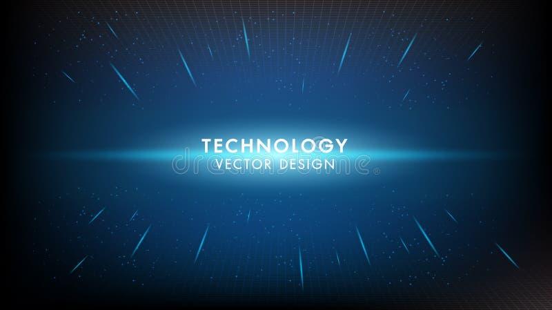 Fondo digitale digitale di vettore di concetto di tecnologia dell'innovazione dell'estratto Progettazione estetica di infographic illustrazione vettoriale