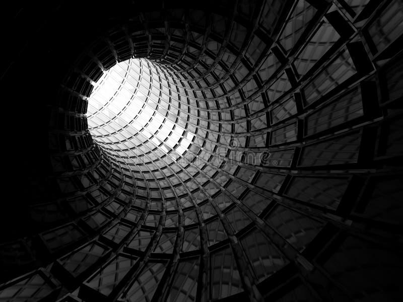 Fondo digitale nero brillante astratto del tunnel illustrazione vettoriale