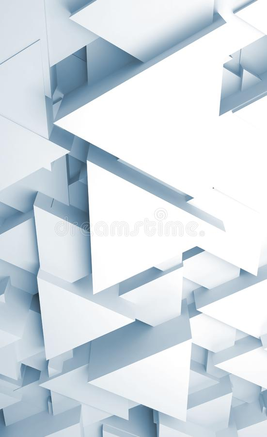 Fondo digitale verticale dell'estratto con i blocchi triangolari 3d royalty illustrazione gratis