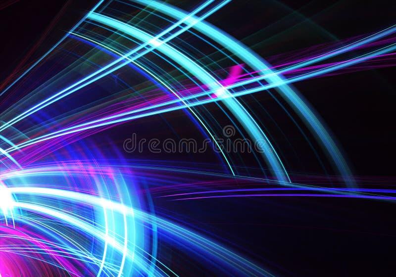 Fondo dinámico del color abstracto con efecto luminoso Espiral del fractal Arte del fractal libre illustration