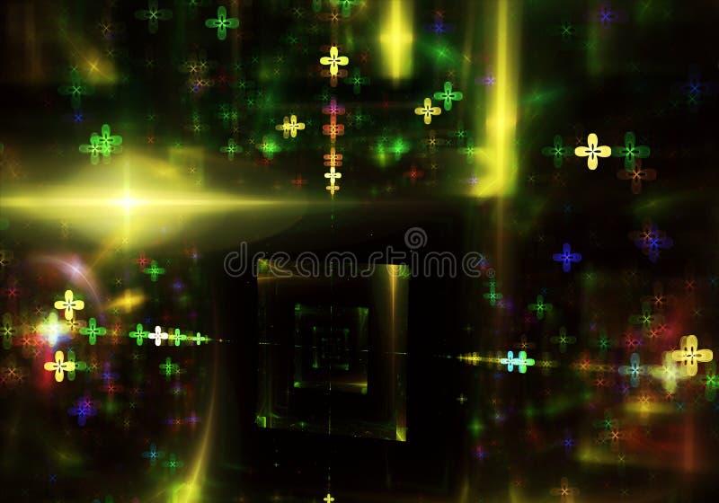Fondo din?mico del color abstracto con efecto luminoso Espiral del fractal Arte del fractal stock de ilustración