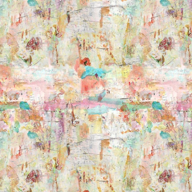 Fondo dipinto artistico afflitto Grungy del collage illustrazione vettoriale