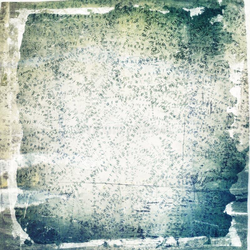 Fondo dipinto e lacerato del collage fotografia stock