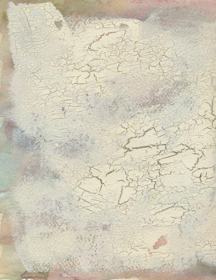 Fondo dipinto estratto Grungy del crepitare immagine stock libera da diritti