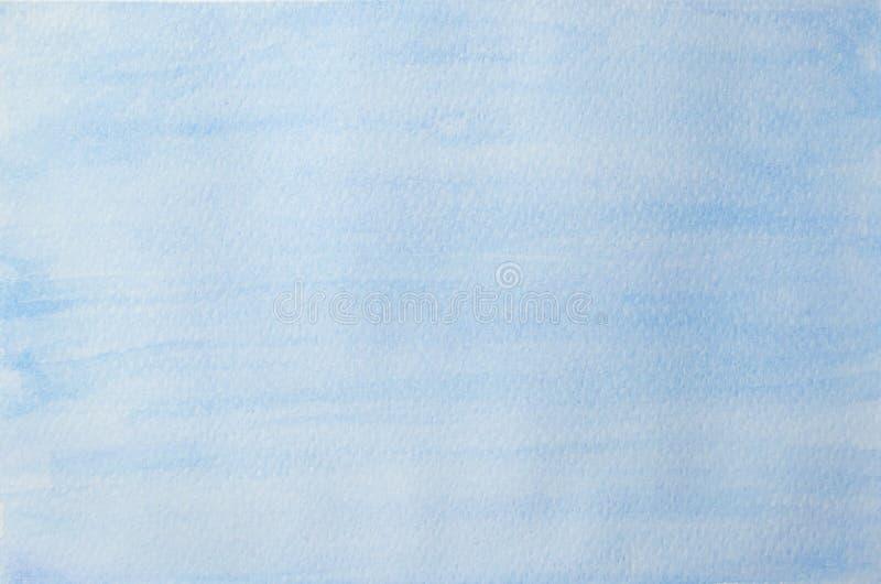 Fondo dipinto a mano astratto dell'acquerello del cielo blu royalty illustrazione gratis