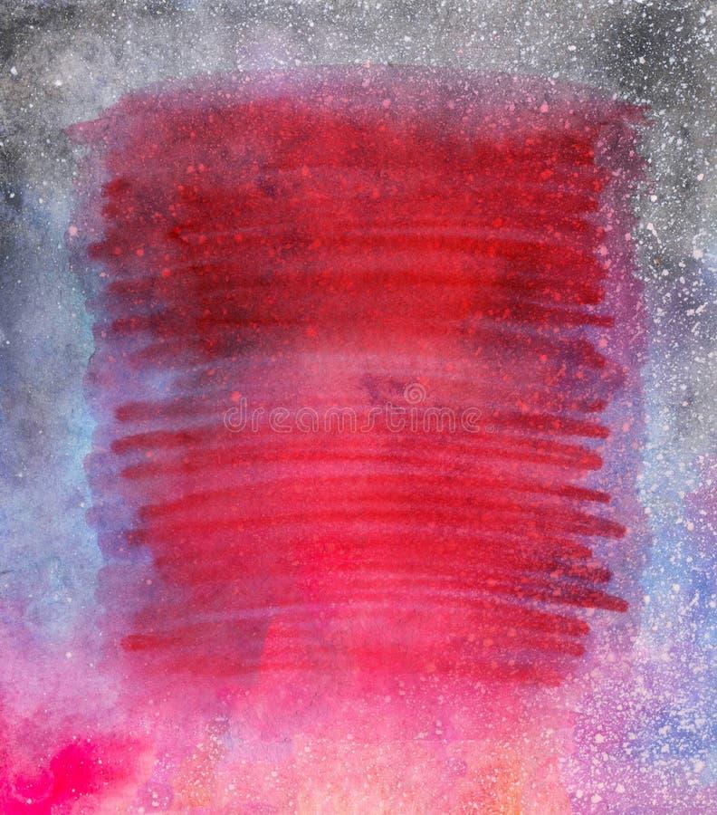Fondo dipinto a mano luminoso dell'acquerello Struttura di carta invecchiata fatta a mano Sovrapposizione di lerciume per le cart illustrazione di stock