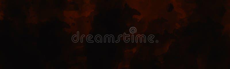 Fondo dipinto scuro dell'estratto con effetto sbiadito acquerello d'annata illustrazione vettoriale