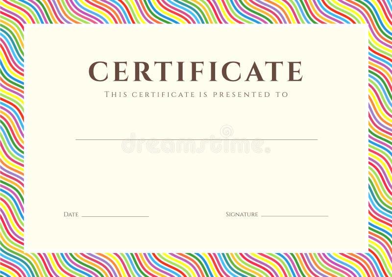 Fondo diploma/del certificato (modello) illustrazione vettoriale