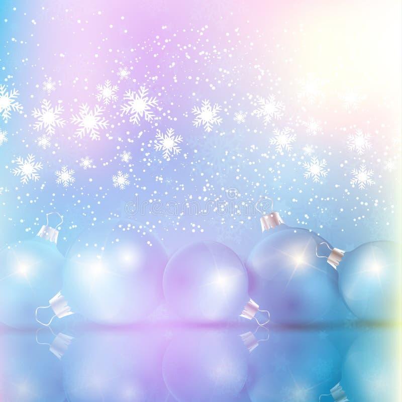 Fondo diseñado retro de la chuchería de la Navidad ilustración del vector