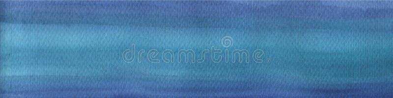 Fondo disegnato a mano dell'acquerello blu ricco scuro con i colpi ed i divorzi Fondo astratto per progettazione, disposizioni royalty illustrazione gratis