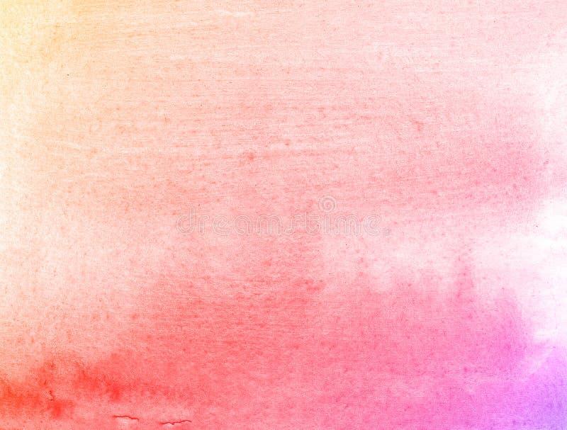 Fondo disegnato a mano dell'acquerello della natura arancio e rosa del fiore, illustrazione del quadro televisivo fotografie stock