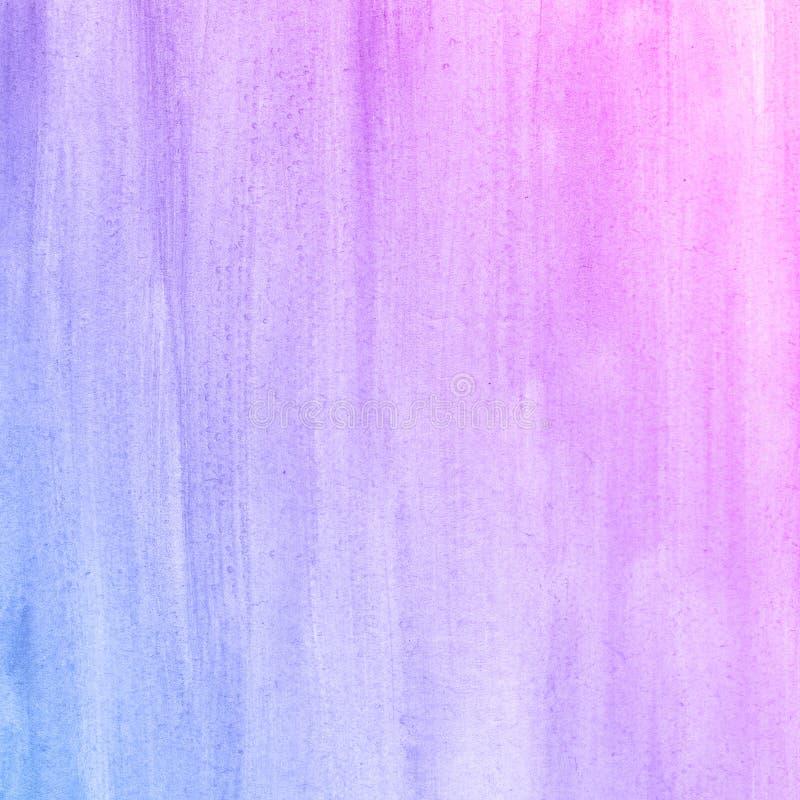 Fondo disegnato a mano dell'acquerello della natura blu del fiore e di rosa, illustrazione del quadro televisivo immagine stock