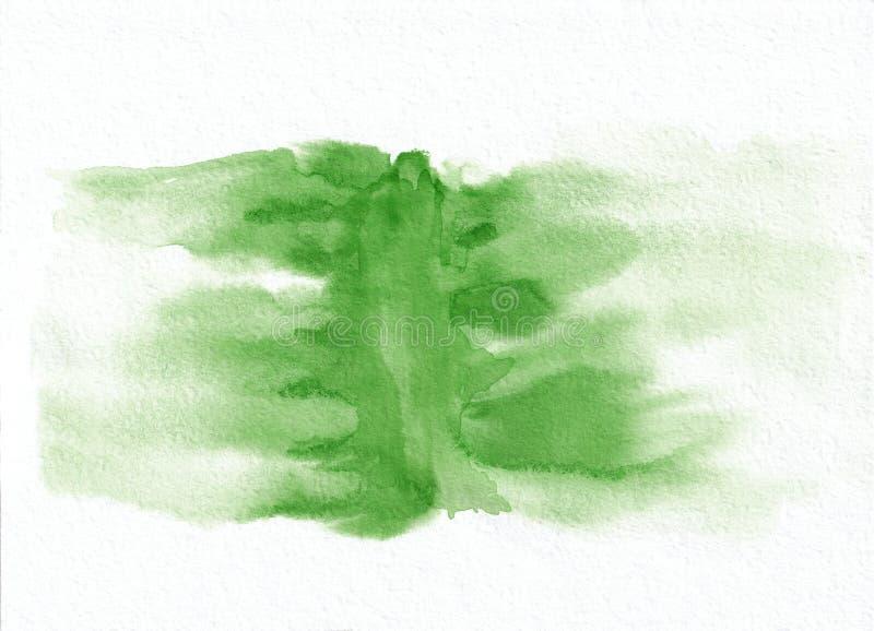 Fondo disegnato a mano di pendenza orizzontale verde scuro dell'acquerello ` s utile per progettazione grafica, contesti, stampe royalty illustrazione gratis