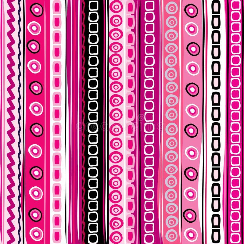 Fondo divertido rayado del color rosado ilustración del vector