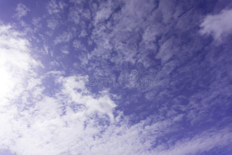 Fondo divino pacífico - enciéndase del cielo, luz del sol brillante desde arriba en cielo azul fotografía de archivo libre de regalías