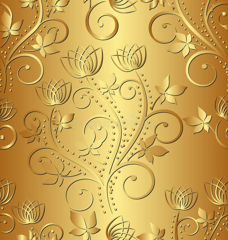 Fondo dorato illustrazione vettoriale