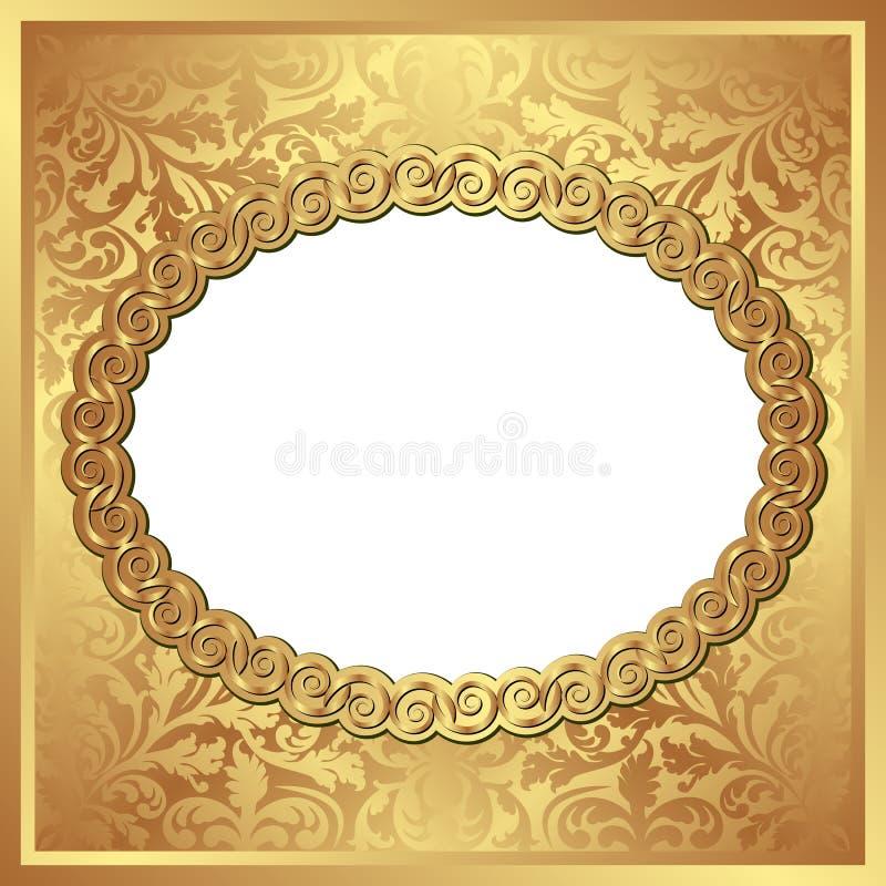 Fondo dorato illustrazione di stock