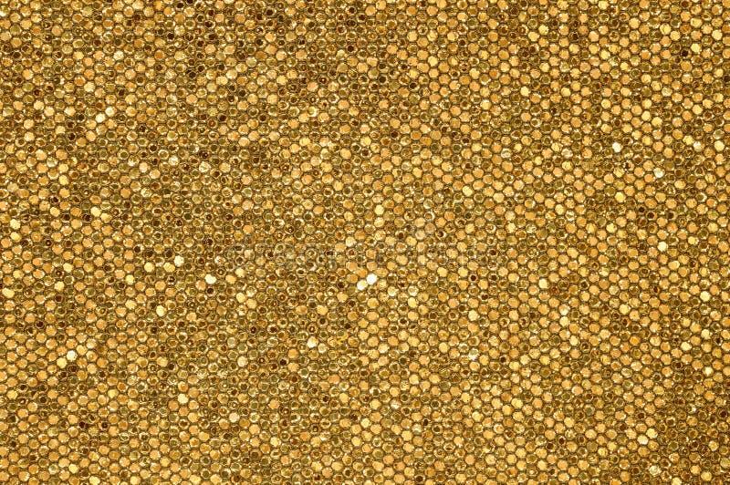 Fondo dorato del mosaico immagine stock