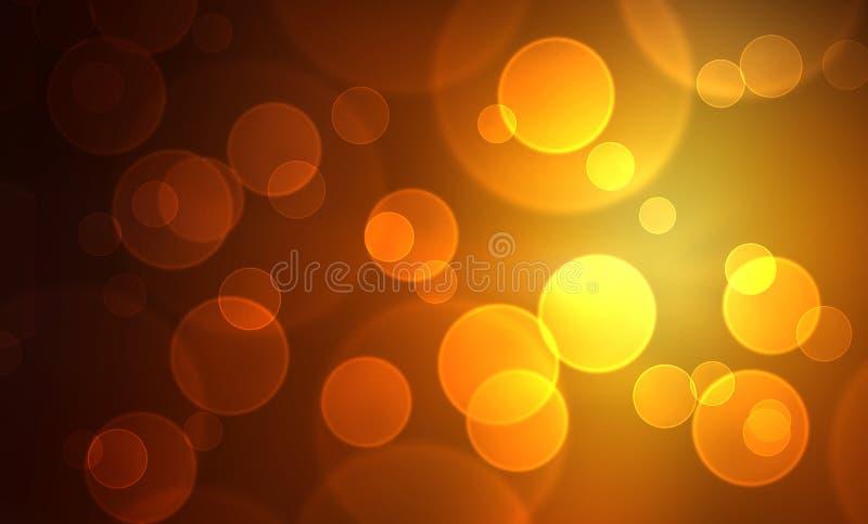 Fondo dorato delle luci immagine stock libera da diritti