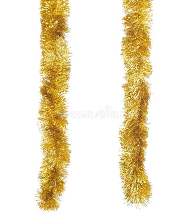 Fondo dorato di bianco del aginst dei lamé immagine stock