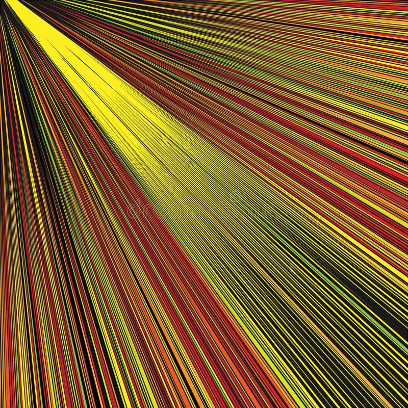 Fondo dorato diagonale astratto dei raggi illustrazione di stock