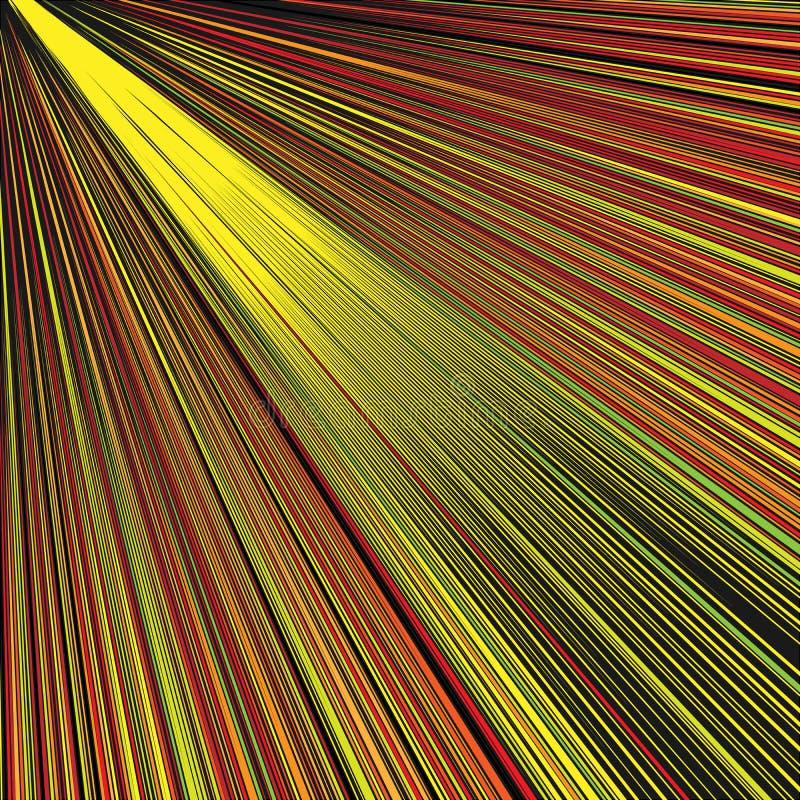 Fondo dorato diagonale astratto dei raggi illustrazione vettoriale